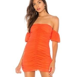 NBD Soleil Mini Dress in Poppy Orange, M